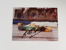 Michael Schumacher autograph on a photo of a Benetton Ford B193