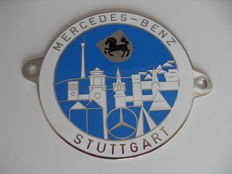 "Official radiator grille badge - ""Mercedes-Benz Stuttgart"" - 8,5 cm"