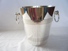 Silver plated champagne cooler with handles, France