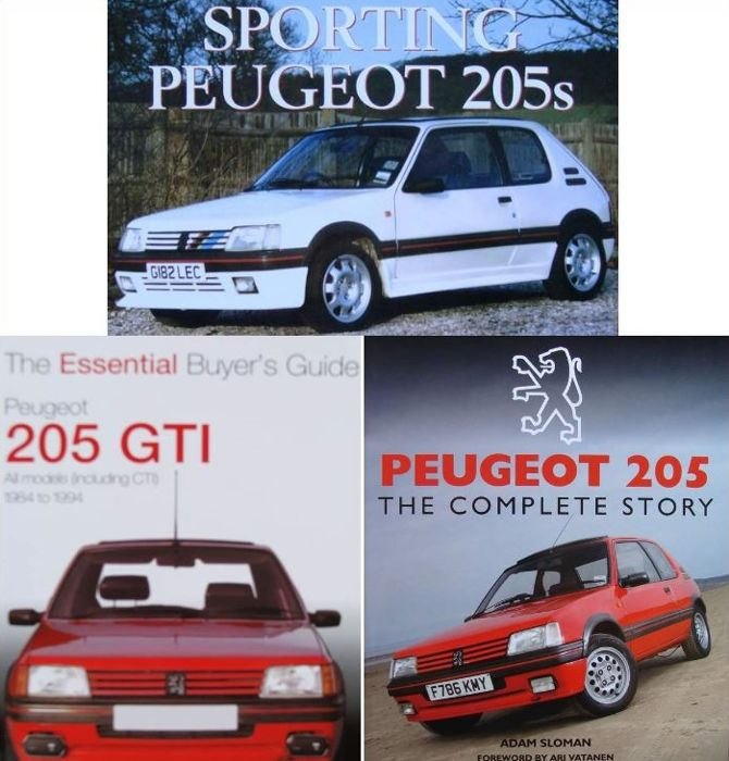 3 Books on Peugeot 205