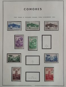 Former French Colonies 1950-1975 - Collection of Comoros, almost complete.