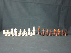 Complete ivory chess set