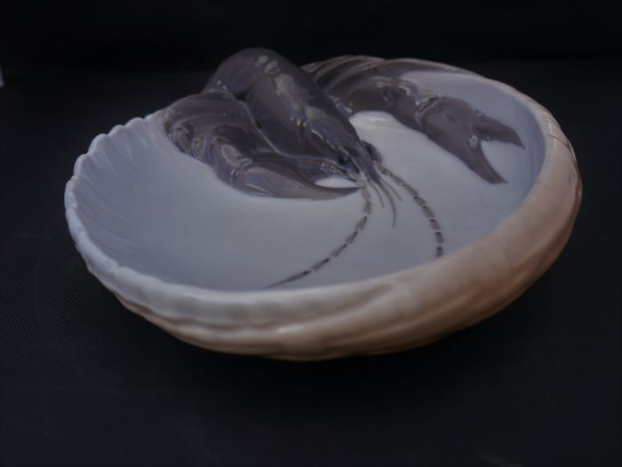 Royal Copenhagen - porcelain dish with lobster