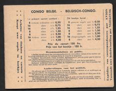 Belgian Congo 1937 - Stamp booklet - OBP A5