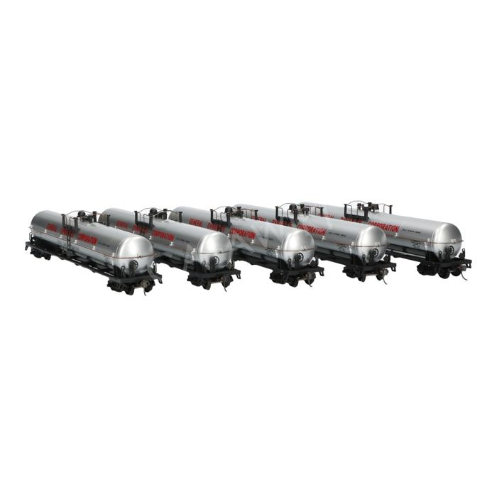 Athearn H0 - 1524 - Set of 5 Tank wagons length 62 feet of General Dynamics Corporation