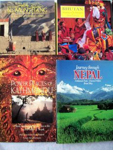 Lot of 4 books about art and culture of the Himalaya - 1980/1990