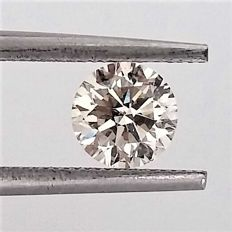 Round Brilliant Cut  - 0.91 carat - H color - VS2 clarity- Comes With AIG Certificate + Laser Inscription On Girdle
