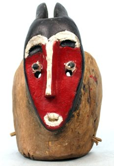 Antique Dancing Mask - BAULE - Cote d'Ivoire