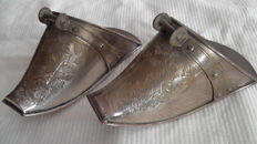 Pair of stirrups in silver metal