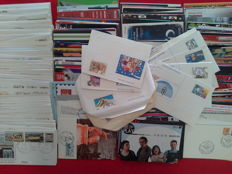 Italian Republic, from 1978 to 2000 — Lot of 625 with FDC's, Postal Cards, Postcards and Postal Adverstisements