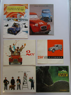 Citroen - lot of 6 catalogues for  models 2CV / Dyane / Camionnette  - from 1956 to 1975