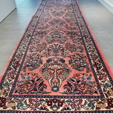 Beautiful Persian Sarouk carpet - 295 x 83 - special design