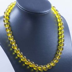18 kt Gold Necklace with Citrine – 44 cm