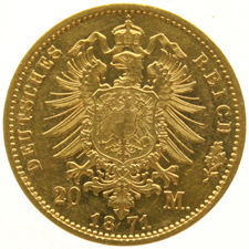 Germany (Prussia) - 20 marks 1871A - Wilhelm - gold