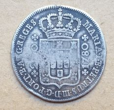 Portugal – 12 Vinténs 240 Réis – 1780 – D. Maria I & D. Pedro III – High Crown