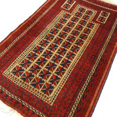 "Semi-antique Beluch – 123 x 78 cm – ""Finely knotted Persian prayer rug in beautiful condition"" – With certificate"
