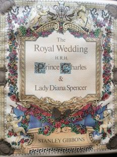 British Commonwealth - Lady Diana 1981 Royal Wedding Collection in 4 Stanley Gibbons Albums.