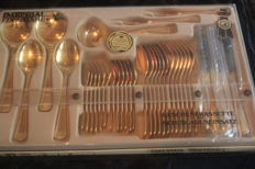 IMPERIAL Schade cutlery set - 37 pieces - 23/24 carat - fully gold-plated, 1000 fine gold