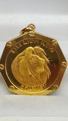 Disney 999 1/10 troy ounce The lion King hanger - 2 cm