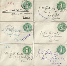 Egypt - a group of 30 early embossed covers from the 1920's addressed to Cairo