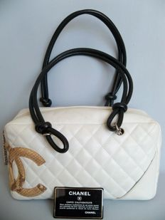 Chanel - Quilted Leather and Python Cambon Bowler Tote Bag