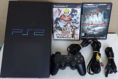 Japanese PlayStation 2 transparent Midnight Black console SCPH-50000 + games