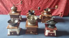 Lot retro lap coffee mills