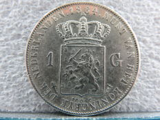 The Netherlands - 1 guilder 1864, Willem III - silver