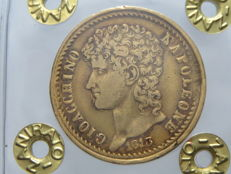 Kingdom of the Two Sicilies. 40 Lira 1813. Joachim-Napoléon Murat. Gold.