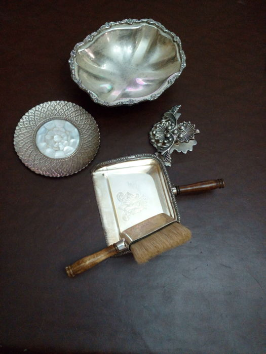 Royal House Collection Sheffield - crumb brush, chocolate candy bowl, decorative plate, paperweight