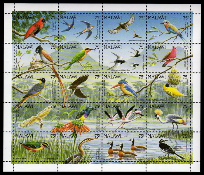 Birds – Theme collection, stamps and blocks