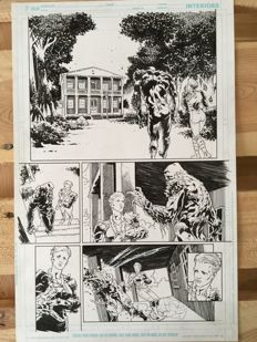 Original Art Page By Andrei Bressan - DC Comics - Swamp Thing Vol 4 - Issue #24 - Page 5 - (2013)