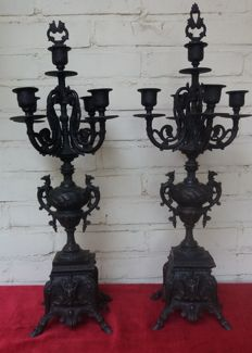 2 candlesticks with candle holders circa 1910