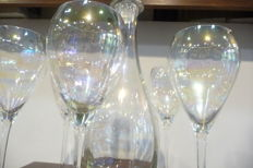 Very beautiful wine crystal colour shiny glasses
