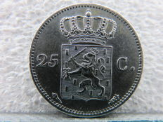 The Netherlands – 25 cent 1825U Willem l – silver