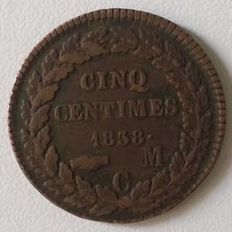 Monaco - 5 Centimes 1838 MC - Honore V