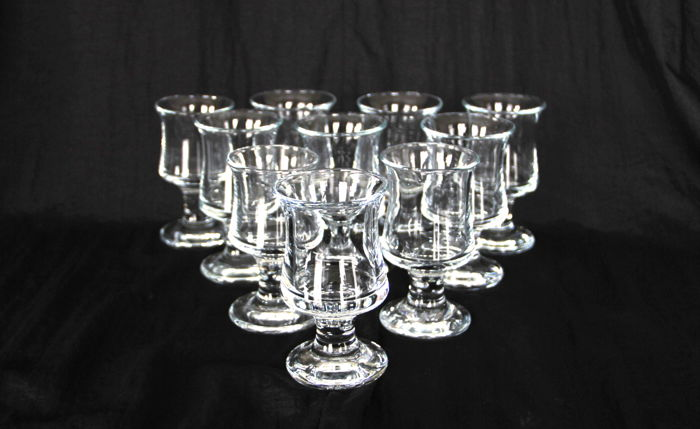 Per Lütken (Holmegaard) - Skibsglas: 10x Port or Sherry glass (10.5cm)