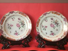 Famille rose plates - China - 18th century