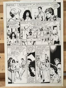 Original Art Page By Bob Hall And Romeo Tanghal - Marvel Comics - PSI Force #7 - Page 19 - Classic Comic Art - (1987)