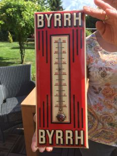 "Vintage Glacoide ""BYRRH"" thermometer 1935. Top Object!"