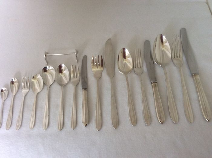 Silver plated cutlery, Gero Zilvium Distinction, Netherlands 1950