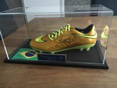 Soccer shoe signed by Neymar Jr. with certificate and psa in luxury case