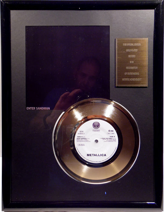 "Metallica - Enter Sandman - 7"" Single Vertigo Records golden plated record Special Gold Edition"