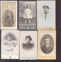 Portrait photos CDV Belgium - 30 x - 1880/1920