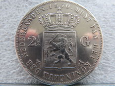 The Netherlands - 2½ guilder 1870 Willem III - silver
