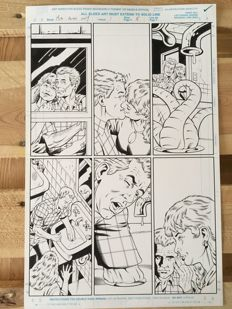 Original Art Page By Rod Whigham - Marvel Comics - Men in Black: Alien in New York #1 - Page 5 - (1997)