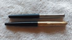 Parker Rolled Gold pens - permanent ink and Parker 15 CT blue - Vintage permanent ink