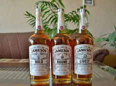 3 bottles - Jameson Deconstructed Series - Bold, Lively & Round