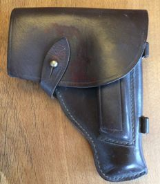 Pistol holster, World War II, P8 Walther, Luger? Leather, good condition, collector's item, rare, WWII militaria
