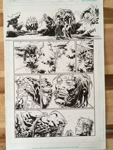 Original Art Page By Andrei Bressan - DC Comics - Swamp Thing Vol 4 Issue #24 - Page 9 - (2013)